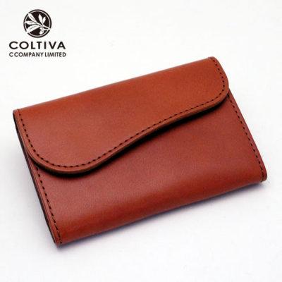 【COLTIVA】コルティヴァ・カードケース(オレンジ)