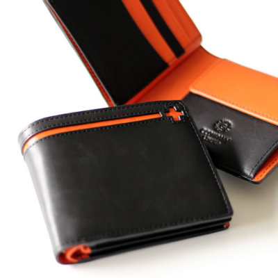 クローチェ・二つ折り財布ブラック